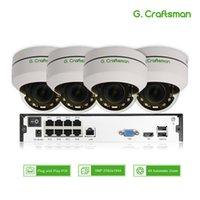 8ch ip kamera nvr großhandel-4ch 5MP POE PTZ-System-Kit H.265 CCTV-Sicherheit 8ch NVR Indoor Waterproof 2,8-12mm 4X optischer Zoom IP-Kamera-Überwachungsvideo