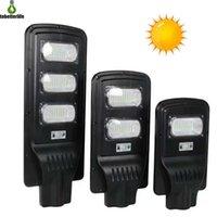 nouveaux lampadaires achat en gros de-Nouveau LED Solaire Réverbère 20W 40W 60W PIR Capteur De Mouvement Contrôle de La Lumière IP67 Étanche Solaire Murale Extérieure Solaire avec Pôle De Montage
