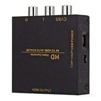 video kodları toptan satış-HD Video Dönüştürücü HDMI CVBS AV / HDMI OTOMATIK ÖLÇEKTÖRÜ Destek NTSC / PAL için TV, VHS, VCR, DVD kaydediciler HDCP kodu