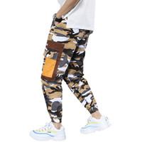 Wholesale wide crotch pants for sale – dress New Safari Style Camouflage Casual Pants Mens Wide Crotch Harem Loose Drawstring Pencil Pants Male Hip Hop Baggy Trousers Homme