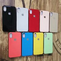 protetor de silicone para iphone venda por atacado-Moda de luxo galvaniza tpu soft silicone case para iphone 6 6 s 7 8 plus tampa traseira case para iphone x xs max xr protetor