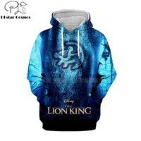 Wholesale lion king hoodies sweatshirt online – oversize PLstar Cosmos Hot sell casual D hoodies sweatshirts shirt print the Lion King Simba Men women s slim long sleeve streetwear
