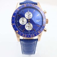 Wholesale ceramic watch black quartz men resale online - Man Wristwatch BR Superocean Chronograph Quartz Movement Chronoliner Everose Blue Ceramic Bezel Wristwatches Y2431033 Mens Watches