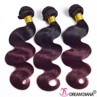 extensões chinesas do weave do cabelo venda por atacado-Ombre Extensão Do Cabelo da Onda Do Corpo Do Cabelo Humano Weave 3 ou 4 Pacotes Brasileiro Indiano Malaio Peruano Chinês Feixes de Cabelo Virgem