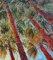 ingrosso palmo di tela di olio---into-the-palms-dittico- Unframed Modern Canvas Wall Art per la decorazione di casa e ufficio, pittura ad olio, colorazione animale, cornice.