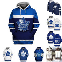 ingrosso hoodies foglia d'acero-Felpe Toronto Maple Leafs Jersey Uomo 11 Zach Hyman 16 Mitch Marner 31 Frederik Andersen 91 John Tavares Nazem 43 Kadri Hockey Jerseys