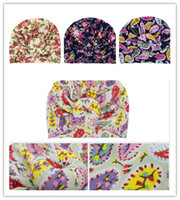 Wholesale indian turban headband resale online - Cute Infant Baby Girls Hat Ball Knot Flower Headwear Toddler Kids Beanies Indian Turban Knot Head Wraps Childs Donuts Florals Hats New D3508