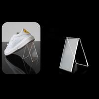 akrilik raf tutucuları toptan satış-Moda Şeffaf Akrilik Ayakkabı Ağaçları Gösteren Tutucu Basit Ayakkabı Ekran Standı Raf Toptan Hızlı Kargo ZC1027