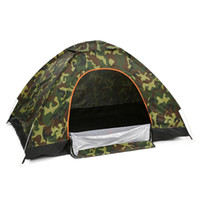 kampierende pop-zelte groihandel-2 Personen Wasserdichte Camping Zelt Outdoor Sport Angeln Single Layer Pop Up Anti UV Tourist Zelt Für Wigwam Strand Jagd + Tasche