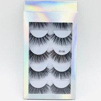 Wholesale free set hair extensions for sale - Group buy False Eyelashes set pairs mink fur hair fake lashes handmade reusable eyelash extensions models available laser packaging box DHL Free