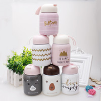Wholesale mini stockings sale for sale - Group buy Mini Insulated Tumblers Lovers Vacuum Big Belly Cup Stainless Water Bottle Portable Lovely Valentine s Day Hot Sale Feel Good dlE1