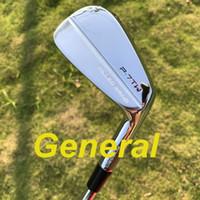 forja de hierro al por mayor-2019 Nuevos hierros de golf general P7TW hierros conjunto forjado (3 4 5 6 7 8 9 P) con royecto X6.0 eje de acero 8pcs palos de golf