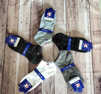 mens low cut knöchelsocken großhandel-Marke Champion Socken Frauen Herren Designer Socken Fußkettchen Low Cut Crew Socke Hausschuhe Sportsocken Boot Socke Sneaker Strümpfe C61305