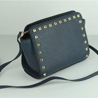 женские сумочки оптовых-Модные женские заклепки известные дизайнерские сумки леди Crossbody сообщение сумки кошелек женский плечо большая сумка маленький Selma