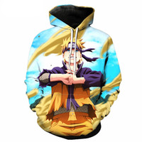 Wholesale naruto sasuke jacket online - New Sweatshirts Men Women Hipster d Anime Naruto Sasuke Cool Hoodie Spring Fashion Plus Size Outerwear Pullovers Anime Jackets
