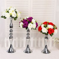 Wholesale europe led for sale - Mermaid Main Table Wedding Vases Iron Plating Silvery Color T Tai Road Leads Main Table Candle Holders Fashion Flower Arranging Device d