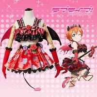 dfd67d4ed Amine Love Live Rin Hoshizora Devil Ver Cosplay Dress Cosplay Costume  Halloween Costume Demon