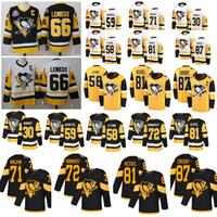 camisetas de pittsburgh 58 al por mayor-pingüinos pittsburgh jerseys camisetas de hockey 87 Sidney Crosby 58 Práctica Kris Letang 66 Mario Lemieux 71 Evgeni Malkin 30 Matt Murray