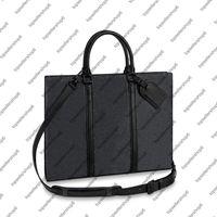 M45265 SAC PLAT HORIZ BRIEFCASE Men Eclipse canvas Purse letter print Cowhide briefcase portfolio attache case tote Handbag Shoulder Bag