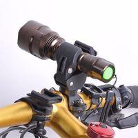 abrazadera de luz ajustable al por mayor-Bicicleta Luz Clip Plásticos de Ingeniería Ciclismo Bicicleta Soporte de Montaje para Linterna Antorcha Clip Clamp Ajustable Accesorios de Bicicleta # 549826