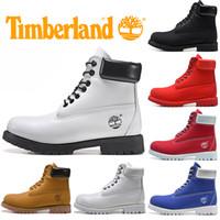botas de caminhadas marrons homens venda por atacado-Bota Timberland para mulheres dos homens Casual Botas de Inverno Mens Fashion Triplo Black White Brown instrutor Caminhadas ao ar livre Sneaker Free Ship
