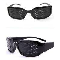 épingles de lunettes achat en gros de-Soins unisexe sténopé Eyesight Lunettes Vision Améliorant Anti-fatigue Lunettes trou unisexe Pin Lunettes lunettes anti-fatigue KKA7568