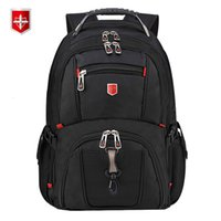 Wholesale business backpack notebook resale online - Swiss Men s Backpack inch Computer Notebook School Travel Bags Unisex Large Capacity bagpack waterproof Business mochilaMX190903