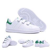 erkek kızlar gündelik beyaz ayakkabılar toptan satış-Yeni çocuklar smith çocuk ebeveyn-çocuk rahat ayakkabılar erkek bebek kız moda stan sneaker Için beyaz çoklu koşu açık eğitmen ayakkab ...