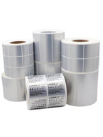 etiquetas electrónicas al por mayor-muchos tamaños disponibles en blanco plata mate paquete código de barras etiqueta de precio etiqueta etiqueta máquina digital electrónica etiqueta