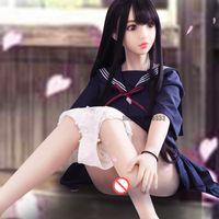 realistisches sexy spielzeug großhandel-Sex Doll Japanese Silikon High Realistic Sex Toys Sexy Uniformen Mädchen