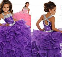 küçük kızlar boyutu 12 elbiseler toptan satış-Küçük kızın Pageant elbise Doğum Günü Partisi 2019 Yürüyor Çocuk Resmi Aşınma Balo Boncuk Genç Çocuk Boyutu 5 7 9