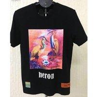 hop pink t shirts achat en gros de-2019 New Heron Preston T Chemises Multicolore Grue à couronne rouge Heron Preston T Shirt Hip Hop Femmes Hommes Rose Top T-shirts