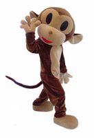 trajes de macaco para adultos venda por atacado-2019Naughty Macaco Traje Da Mascote Rhesus Macaco Traje Da Mascote Dos Desenhos Animados Vestuário Halloween Costume Partido Adulto Tamanho