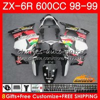 Wholesale black white 636 for sale - Group buy Cowling For KAWASAKI NINJA ZX R white glossy ZX600 CC HC ZX636 ZX R ZX ZX R CC ZX6R ABS Fairing