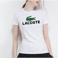 impression de t-shirt lettre anglaise achat en gros de-T-shirt à manches courtes pour femme avec impression de lettre anglaise T-shirt tendance, respirant confortable T-shirt en pur coton pour femme