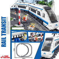 Wholesale old batteries resale online - 941pcs Technic Battery Powered Electric ING City Train Harmony high speed Rail Building Blocks Brick Gift Toy for Children