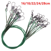 100pcs 16 18 22 24 28cm Anti-bite Steel Wire Fishing Lines Stainless Steel Snaps & Swivels Pesca Fishing Tackle Accessories FS_43