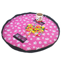 Wholesale kids mat typing resale online - Toy Quick Storage Bag cm Colors Portable Kids Large Capacity Drawstring Pouch Play Mat Blanket Rug Organizer Bag OOA7018