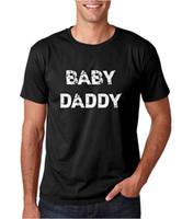 baba tişört toptan satış-CBTWear Baby Daddy - Yeni Baba için Komik - Bebek Duyuru Premium Erkek Tişört