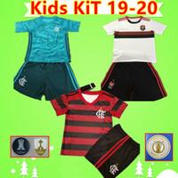 menino diego venda por atacado-Camisa soccer jersey football shirt 19 20 Kids kit Flamengo Camisas De Futebol 2019 2020 uniformes # 27 B.HENRIQUE DIEGO GABRIEL URIB ARAO Camisa de futebol Brasil Menino criança