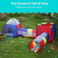 plastik aufblasbare karikaturen großhandel-Baby Spiel Haus Zelt für Kinder FoldableToy Kinder Kunststoff Haus Spiel Spiel Aufblasbare Zelt Yard Ball Pool Chilren Crawl Tunnel