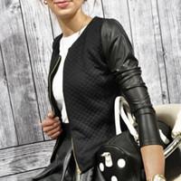 школьная одежда для девочек оптовых-Women Autumn Long Sleeves Ladies Casual Short Suit Coat Daily Outfit Jacket School Girls Patchcolor Slim Top