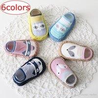 yürümeye başlayan çocuklar için kayma çorapları toptan satış-INS Fox Çocuklar Bahar Yeni Karikatür anti kayma İlk Yürüyenler Kat Çorap Pamuk Bebek Ayakkabı Kaymaz Bebek Çorap Bebek Kat Çorap ücretsiz 6colors