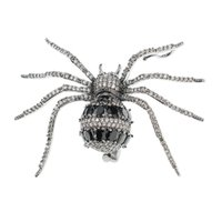 mücevher broşu örümcekleri toptan satış-Kristal Kübik Zirkonya Altın / Siyah Örümcek Broş Broş Pin Kolye Kadınlar Takı Aksesuarları XR04054 Broşlar Ucuz Broşlar