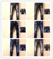 ingrosso denim leggero strappato le donne dei jeans-Pantalone classico DG Hip Hop uomini di dolce gabbana Jeans dolce gabbana Uomo Light Straight Biker Skinny scappatoia designer dg jeans Uomo Donna Strappato Jeans