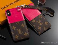 кошелек для мобильного телефона оптовых-2-х частей кошелек на молнии кошелек бренда дизайн мобильного телефона чехол для iphone 7 7plus 8 8plus 6 6plus Xs макс Xr X с гнездом для карты