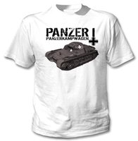 Wholesale germany t shirts online – design 2019 Spring Slim Fit Men T Shirt Hipster O Neck Popular Tops Panzer I Germany Wwii New Amazing Graphic fitness T Shirt