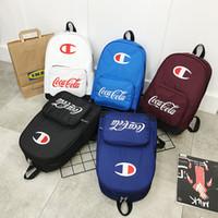 рюкзаки для рюкзаков оптовых-Чемпионы подростки школьный рюкзак с логотипом печать сумка оксфорд ткань большой емкости роскошный рюкзак унисекс дорожная сумка сумка C71606