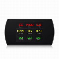 Wholesale boost board resale online - 4 quot HD TFT OBD Computer Display Hud Head Up Display Turbo Boost Gauge RPM Tachometer On board Computer GPS Digital Speedometer car