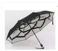 ingrosso ombrelloni completamente automatici-Protezione in gomma Uv Ombrello parasole automatico Ombrello a tre pieghe Ombrello da lavoro per uomo e donna